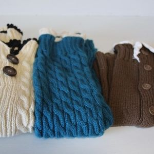 Accessories - 3 Pair Lace Button Boot Cuffs